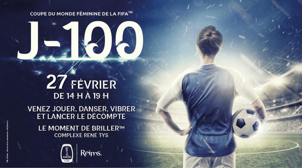 Nord Est, affiche J-100 de la coupe du monde féminine