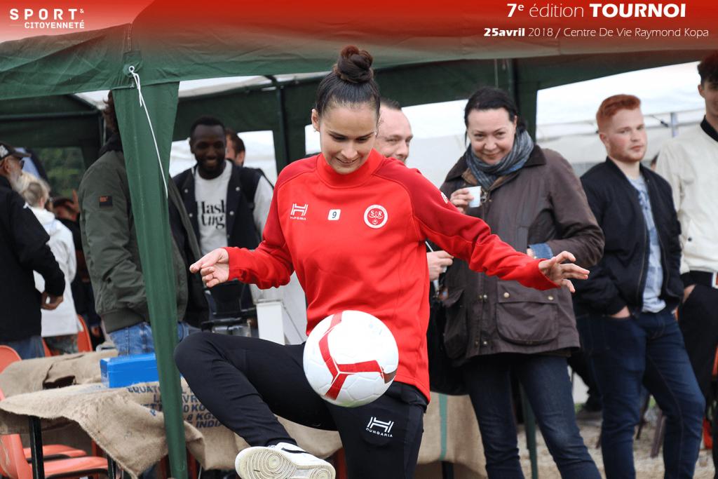 Nord Est, collecte Football & Citoyenneté, animation jonglage balle