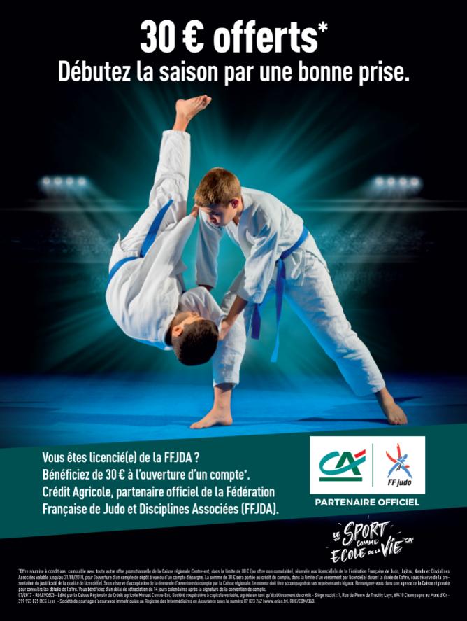 Centre Est, partenaire de la Fédération française de judo