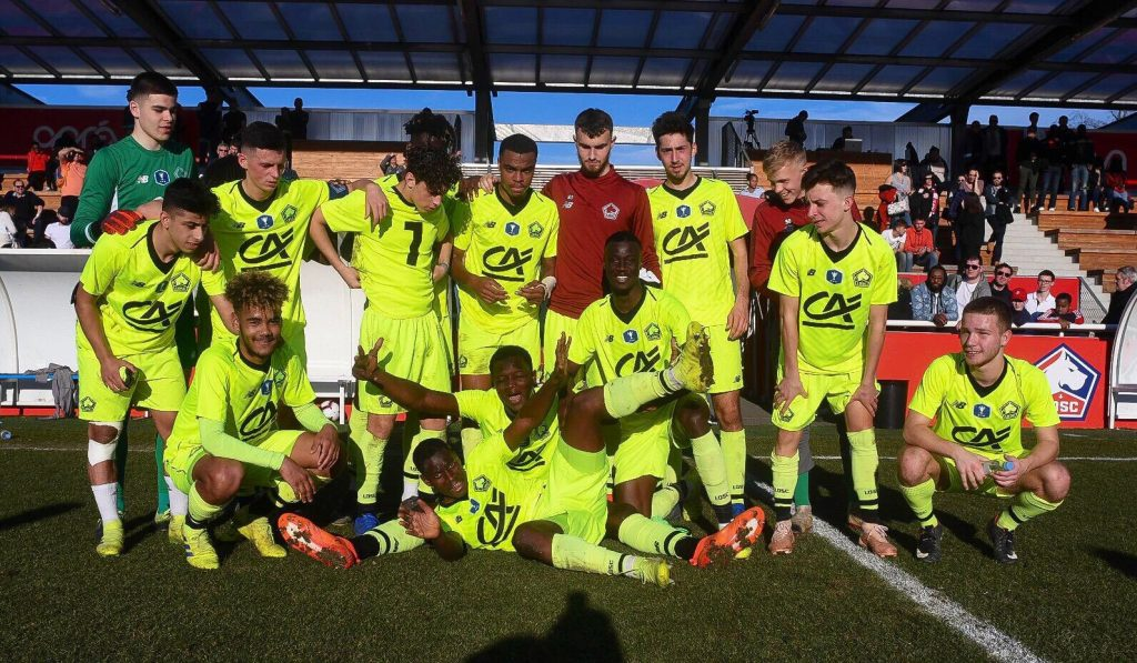 Photo de groupe des U19 du Lille OSC