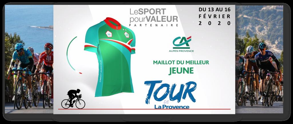 Bannière Maillot du meilleur joueur Tour de la Provence