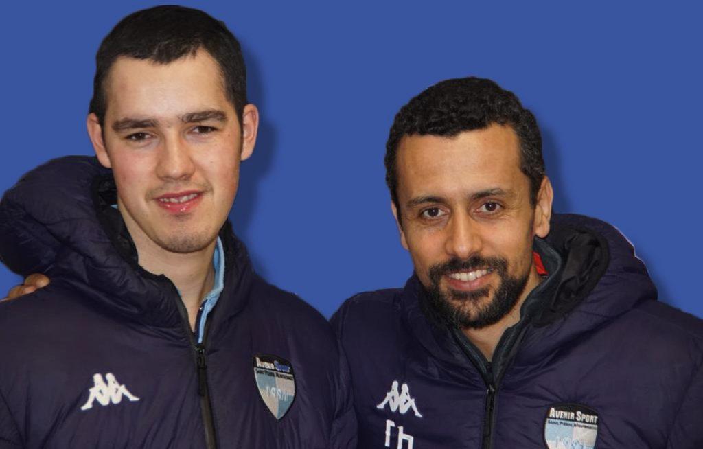 Photo de Antoine Bertin et d'un éducateur du club