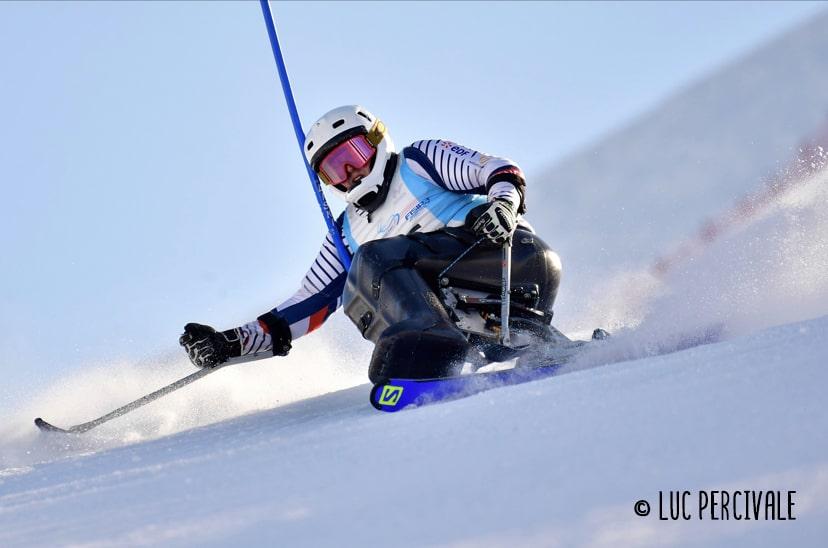 Lou braz Dagand en plein slalom