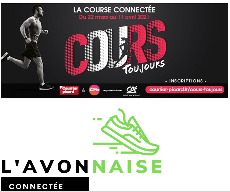 """Logo/ Affiche de """"La course connectée"""""""
